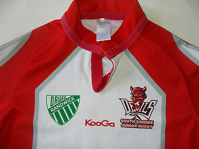 D.r.u.f.c. Randwick  Rugby Jersey #7 South Coogee Red Devils Junior Rugby