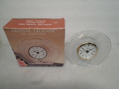 Beautiful Crystal Legends Clock With Original Box-Excellent Condition Throughout
