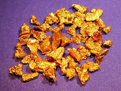 Sparkling Clean Australian Gold Pieces ( 5.12 grams ) .