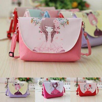 US Cute Kids Children Girls Mini Bowknot Crossbody Bags  Handbags Bag Purse