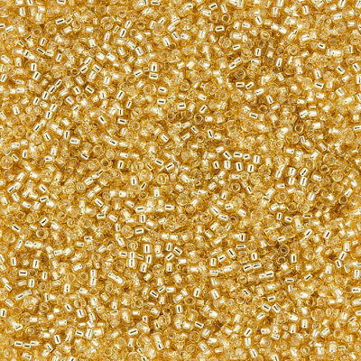 Toho Round Seed Beads Size 15/0 Silver Lined Light Topaz TR-15-22 8.2g (L15/6)