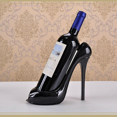 High Heel Shoe Wine Bottle Holder Rack Home Bar Display Decor Ornaments Crafts
