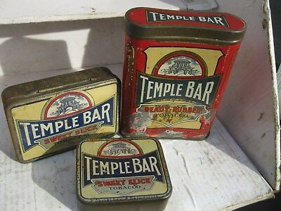 3  Different Temple Bar Tobacco Tins