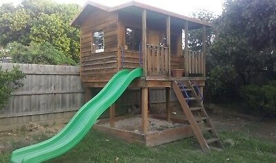 Aarons Cubby House with slide & sandpit MELBOURNE