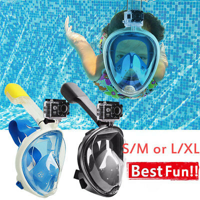 Full Face Diving 180° Seaview Snorkel Snorkeling Mask Swimming Goggles for GoPro