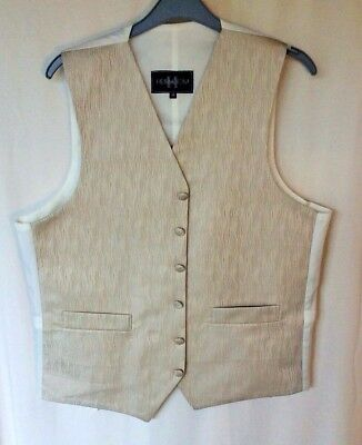 Heirloom Waistcoat with Pockets Wedding Evening Formal Gold Size 38
