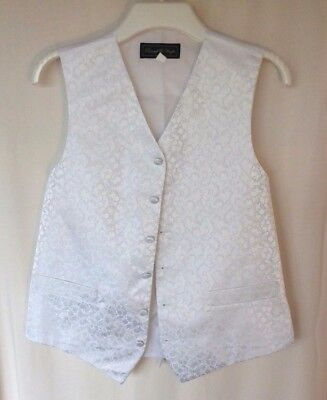 Roocroft & Wright Waistcoat with Pockets Wedding Evening Formal Ivory Size 38