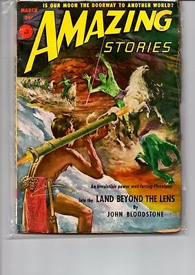 amazing stories. march . 1952