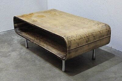 Vintage Mid-Century Retro Scandinavian Bentwood Curved 2 Tier Coffee Table  (33)