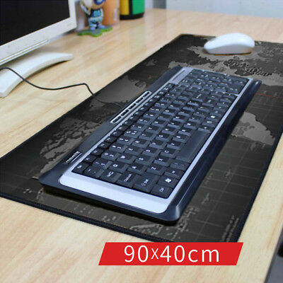 40*90*0.2CM Special-Textured XL World Map Gaming Mouse Pad Large Keyboard Mat