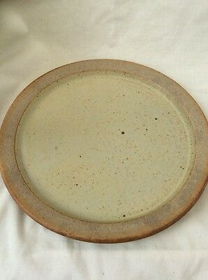 Studio Pottery Dinner Plate Unsigned Piece