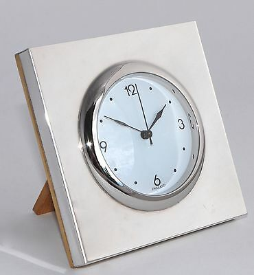 2007 Whitehill Sterling Silver Mounted Desk Clock - Bedside Clock - Never Used