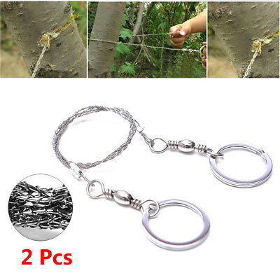 Hot Emergency Chain Survival Gear Steel Wire Saw Camping Hiking Hunting Climbing