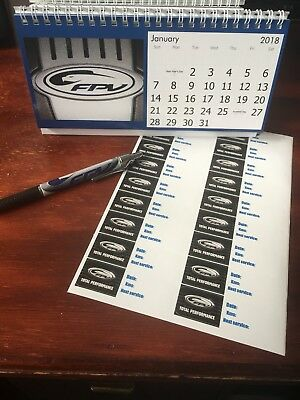 Fpv Desk Calendar Pen Service Decal Ford Falcon Gt Gto Ba V8 Turbo V6