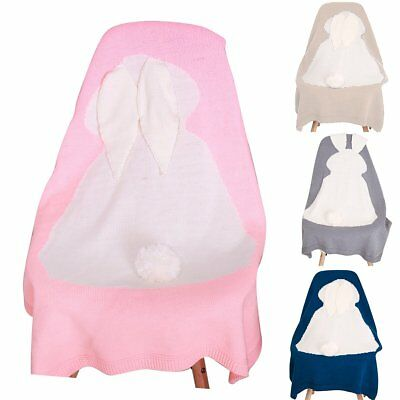 Newborn Infant Baby Soft Rabbit Blanket Bedding Towel Cover Throw Swaddle Wrap