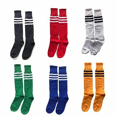 Football Striped Socks Knee High Made Uk Hockey Rugby Soccer Mens Womens