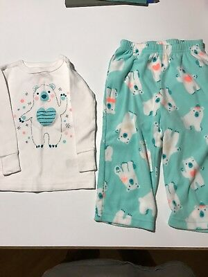 Cat & Jack Girl Size 12 Month Two Piece Pajamas