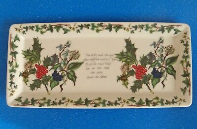 Portmeirion ~ THE HOLLY & THE IVY ~ SANDWICH TRAY.  Christmas Tableware.