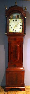 A Good And Unusual Antique Automaton Grandfather Clock