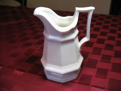 Vintage White Ironstone Cream Pitcher