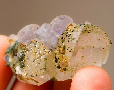 Blue Fluorite With Quartz, Pyrite, Chlorite - From Panasqueira Mine, Portugal