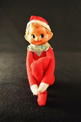 Vintage Christmas Sitting Elf Pixie great patina '40's or '50's