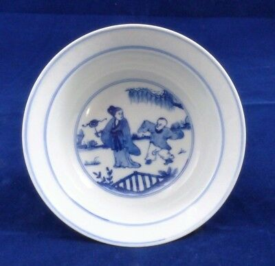 A 20Th Century Chinese Blue And White Bowl Six Character Chenghua Mark