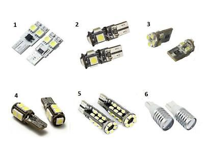 1 x Pair 501 W5W T10 LED Canbus Sidelight Bulbs 6000K White 6 Styles SMD & Cree