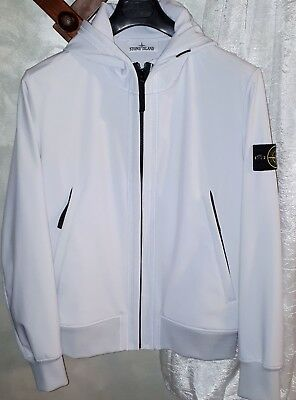 "Stone Island L light soft shell-r ""ORIGINALE"" Bianco Ghiaccio"