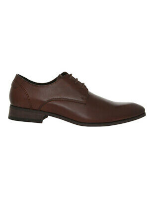 NEW Jeff Banks Sharp Derby Lace Up Brown