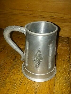 "handmade pewter mug from Norway approx 5"" tall - stein, cup"