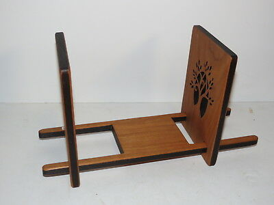 @ Mint 3 (Pc) Pierced Wooden Book Stand / Bookends @