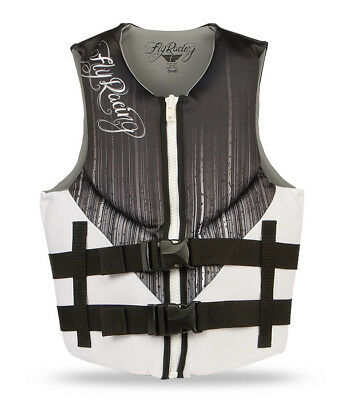 Fly Racing LADIES Neoprene Life Jacket Black/White Vest XS Extra Small