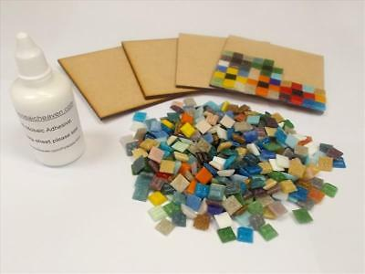Easy to make Mosaic Coaster Kit. Great Project. Mixed tiles. Everything Inc X 4