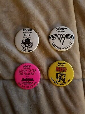 94 Wysp Concert Buttons - Kiss, Twisted Sister, Dio and Van Halen