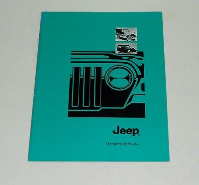 NICE JEEP BOOKLET - THE LEGEND CONTINUES - HISTORY of the JEEP 1940's - 1990's