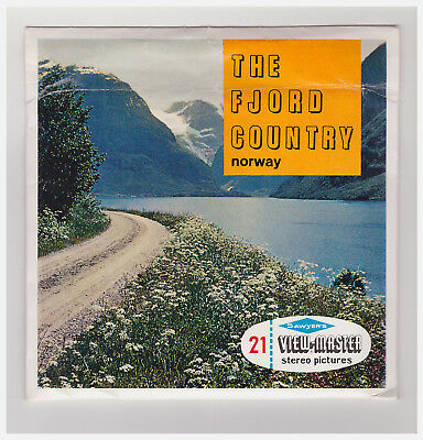 View Master  The  Fjord Country  Norway    C 491   In  Inglese