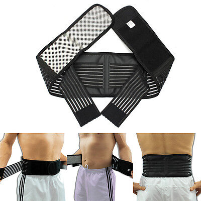 Magnetic Lumbar Lower Back Support Belt Infrared Brace Double Pull Strap Pain UK