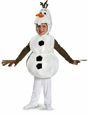 XMAS Toddler Frozen Olaf Deluxe Costume  Child Snowman Disguise White (3T-4T)