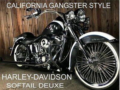 "2008 Harley-Davidson Softail  21"" Wheel Set Fat Daddy Legend Air Ride 39"" Beach Bars True Dual Exhaust Linby"