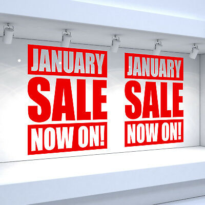 2 x JANUARY SALE NOW ON! Shop Window Vinyl Stickers Retail Decals