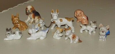 Vtg Small Miniature Dog Figurines Bulldogs Terriers + Lot of 11 Made in Japan