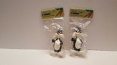 Bugs Bunny and Friends ceramic ornament lot Sylvester Warner Bros Looney Tunes