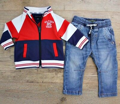 Tommy Hilfiger Next Baby Boys Bundle Outfit Blue Jeans Jacket Age 6-9 M