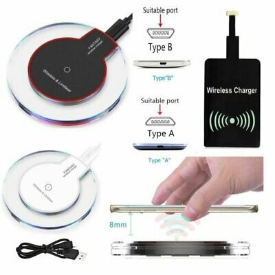 Qi Wireless Charger Charging Pad+Receiver Kit for Samsung Galaxy S3 S4 S5 Note 3
