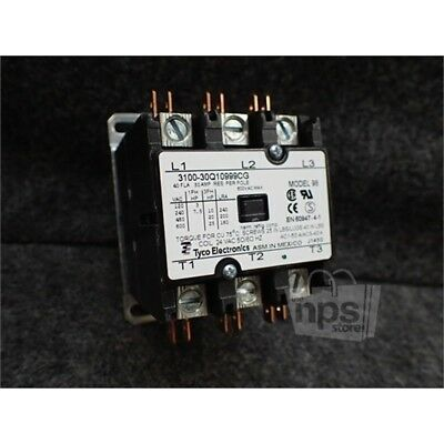 Tyco Electronics 3100-30Q10999CG 40A General Purpose Relay Contactor, 600VAC, 3P