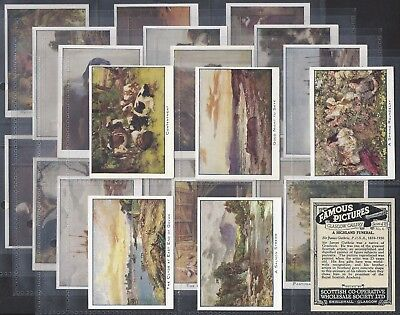 Full set of 25 1907 greetings of the world hignett bros scottish cws full set famous pictures glasgow adhesive l25 cards exc m4hsunfo