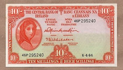 Ireland Republic -  Lady Lavery - 10 Shillings - 6.4.1964 - P63 - Uncirculated