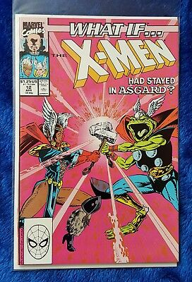 WHAT IF...?(V2 1989) #12 The X-Men Had Stayed IN Asgard? Thor Frog! Marvel Comic