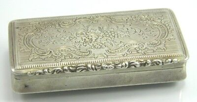 Antique 19th century Austrian silver snuff box dated Vienna 1847